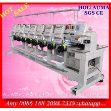 Holiauma Eight Head 15 Needle Embroidery Machine / Cap T-Shirt Garment Computer Embroidery Machine