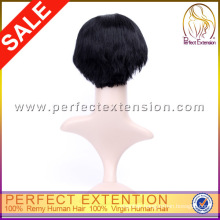 Retail Store Bob Style Remy Hair 100% Cheap Indian Hair Wig