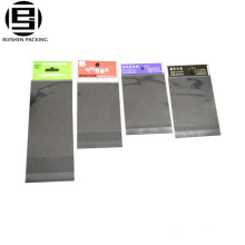 Clear plastic self adhesive opp bags with hang header