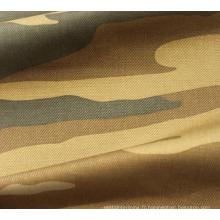 Tissu 100% coton imprimé sergé cassé pour vêtement