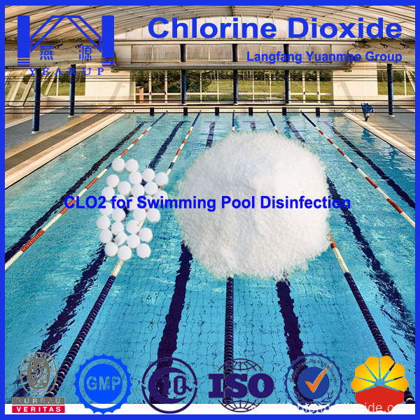 High Efficiency Swimming Pool Chemical Chlorine Dioxide Disinfectant China Manufacturer