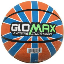 Glomax Colorful High Quality Rubber Basketball