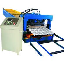 azulejo de azotea de acero del color haciendo máquina precio zinc revestido tiel acero para techos que forma la máquina en china