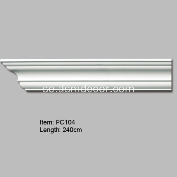 Polyuretan Plain Decorative Cornice Molding