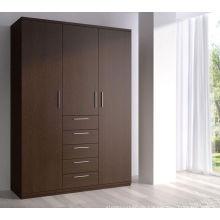 Günstige Ecke gemütliche 3 Tür Schlafzimmer Kleiderschrank Design