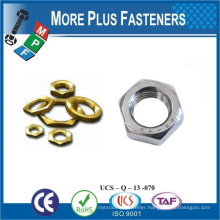 Made in Taiwan Stainless Steel Brass Aluminium Silicone Bronze Hex Jam Nut DIN 936