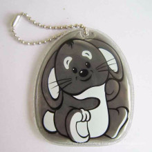 Manufacturers custom PVC floating reflective bear keychain