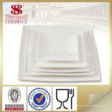 Меламин посуда дешевая стеклянная квадратная тарелка блюдо