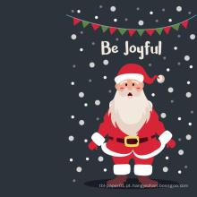 Custom Greeting Card Cartão de feliz Natal Santa feliz Natal