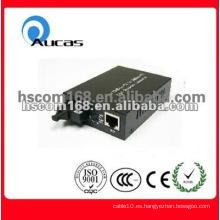 Convertidor de medios de fibra óptica 10/100 / 1000m