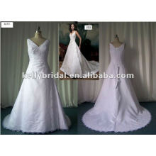 Koreanische Satin Spitze Perlen Brautkleid Brautjungfer Kleid