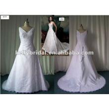 Laço de cetim coreano com contas de noiva vestido vestido de dama de honra
