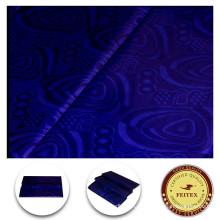 Африканский ткань Оптовая Гвинея парча 5 ярдов хлопчатобумажной ткани одежды африканских Базен riche платье текстильное FEITEX