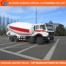 Caminhão grande do misturador concreto da capacidade 8X4 do caminhão do misturador de 12 rodas