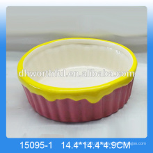 Neuankünfte, billige dekorative Haustierfutterbehälter mit Eiscremeentwurf