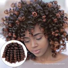 Extension de cheveux de cheveux de tresse de crochet de rebond jamaïcain de 8 pouces