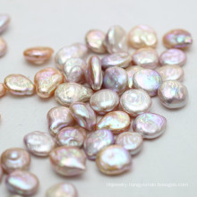14-15mm Irregular Coin Baroque Culture Pearl Beads Wholesale,