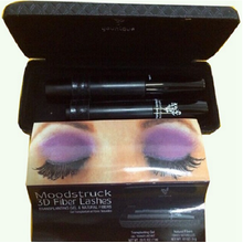 Waterproof 3D Fiber Eyelashes Mineral Cream 2 PCS /Set Mascara