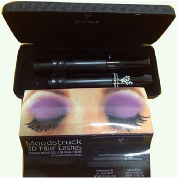 Waterproof 3D Fiber Eyelashes Mineral Cream 2 PCS / Set Mascara