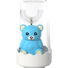 U-образная силиконовая детская электрическая зубная щетка с автоподзаводом для детей