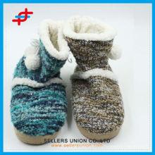 Сладкий теплый мягкий плюшевые сапоги Женщина Home Floor Boots Shoes
