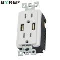 TR-BAS15-2USB Universal GFCI receptacle OEM extension socket