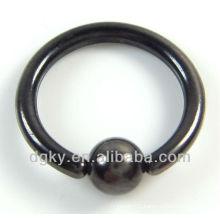 Fashion black body piercing jewelry, BCR circular barbell