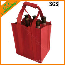 6 bottles non woven wine bottle bag with handles