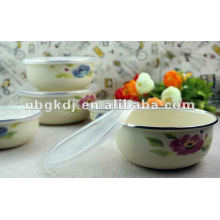 enamel mixing bowl sets with PP lid