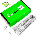 Galvanised steel U shaped nails pins with plastic pads