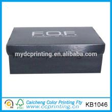 caja de zapatos corrugado negro personalizado