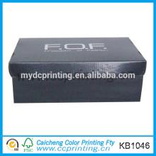 custom black corrugated shoes box