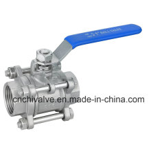Lever Operated 1000wog Thread 3PC Ball Valve