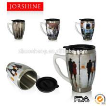 450ML Keramik und Edelstahl-Becher