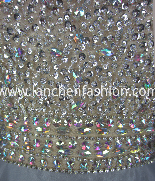 silver beading dress