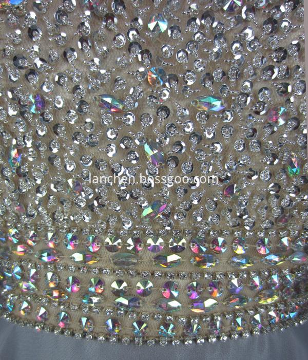 silver beading dress