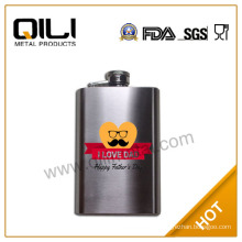 Father's day print logo hip flask