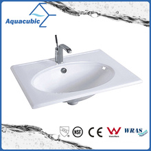 One Piece Bathroom Basin and Countertop Sink (ACB7880)