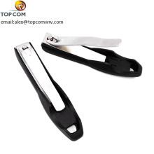 Coupe-ongles et coupe-ongles en acier inoxydable, limes à ongles intégrées, pochette de transport en velours