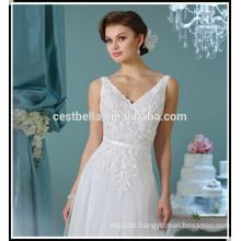Heißer Verkauf ein Linie Hochzeitskleid 2017 Abenddinner-Parteikleidkleid Guangzhou-Hochzeitskleid