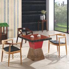 Conjunto de móveis de madeira chinesa de madeira com cadeira Kennedy e mesa quadrada (SP-CT700)