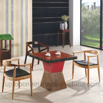 Chinese Wooden Restaurant Furniture Set with Kennedy Chair and Square Table (SP-CT700)