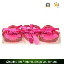 Set de regalo para candelabro con forma de corazón en forma de corazón de 3 piezas