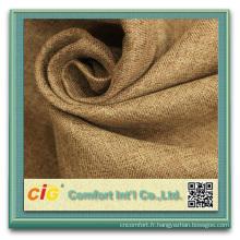 Tissu enduit acrylique de rideaux en panne de rideau en polyester