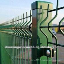 Clôture en usine soudée en PVC