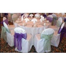 Couvertures charmantes de chaise de polyester, couvertures universelles de chaise de polyester