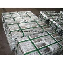 Fourniture d'usine Lingot d'alliage de zinc Zamak 3/5/8 / lingot de zinc