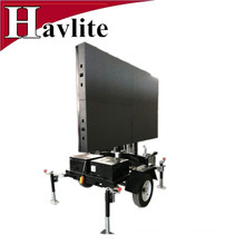 Cheap LED display sign trailer for traffic use with solar panel for sale