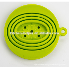 FDA LFGB Standard Chine Professionnel Fabricant Alimentation à la chaleur Résistant à la chaleur Filtre à café pliable en silicone / filtre / filtre
