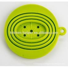FDA LFGB Standard Китай Профессиональный производитель Продовольственная класса жаропрочных Складной силиконовый кофе фильтр / капельница / фильтр